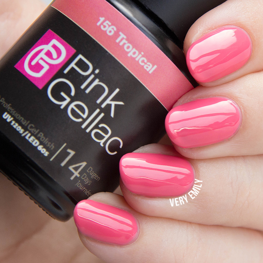 LED starter set, tropical, Nagellak, Pink Gellac Review, Very Emily